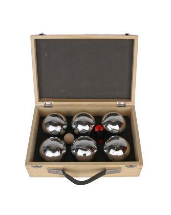 Gra Kule Boule 6 szt Enero w drewnianej walizce 1033624