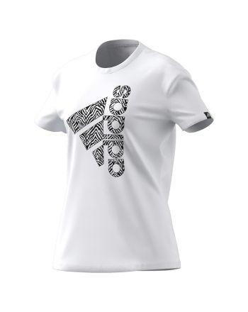 Koszulka adidas Women Vertical Zebra Logo Graphic T-Shirt  H14695