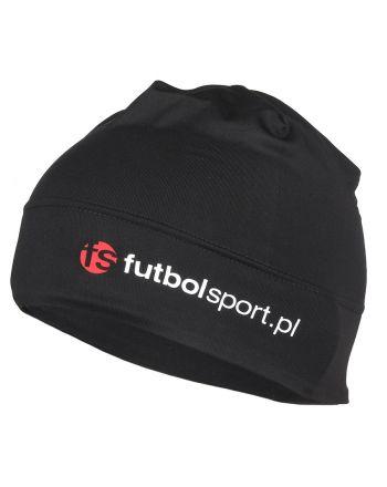 Czapka treningowa futbolsport czarna