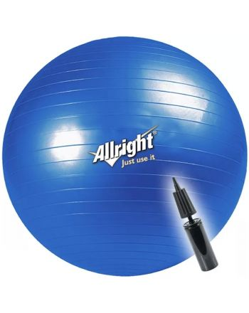 Piłka gimnastyczna 65 cm Allright 166-180 cm