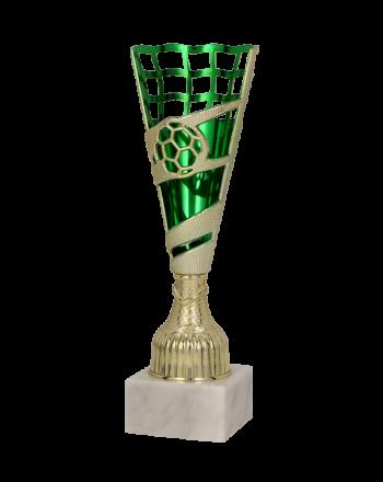 Puchar plastikowy złoto-zielony 21cm