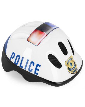 Spokey POLICE - Kask rowerowy dziecięcy (52-56 cm)