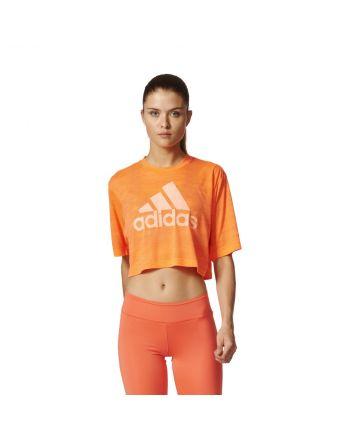 Koszulka adidas Boxy Crop Tee Aeroknit BP8188