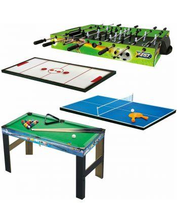 Piłkarzyki Bilard Tenis Stołowy Cybergaj 4w1 Best Sporting