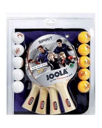 Zestaw do tenisa stołowego JOOLA FAMILLY 4 rakietki 10 piłeczki