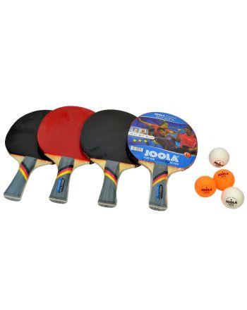 Zestaw do tenisa stołowego JOOLA SCHOOL 4 rakietki 8 piłeczki i torba