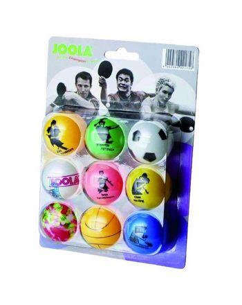 Piłeczki do tenisa stołowego kolorowe 9szt JOOLA FUN