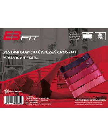 Zestaw gum do ćwiczeń fitness crossfit mini band 5w1 Eb fit