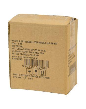 Hantla żeliwna kettlebell 6 kg Eb Fit