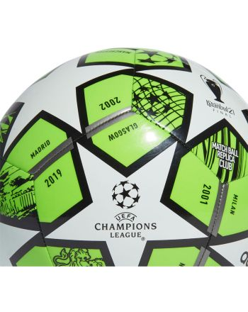 Piłka nożna adidas Finale 21 20th Anniversary UCL Club GK3471 r.3 zielono-biało-czarna