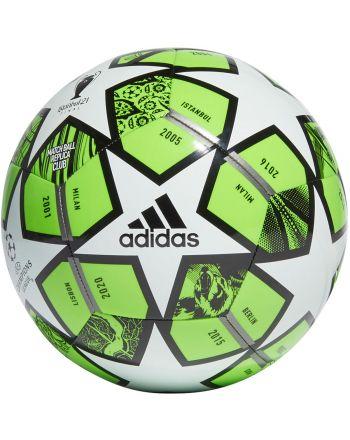 Piłka nożna adidas Finale 21 20th Anniversary UCL Club GK3471 r.4 zielono-biało-czarna