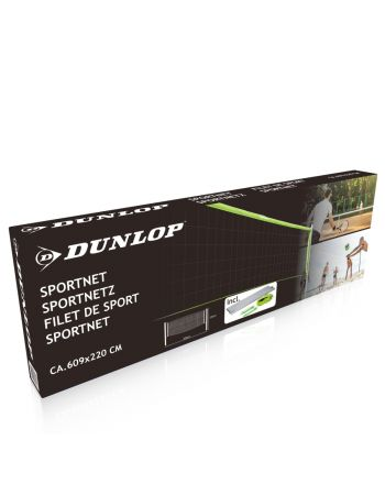 Siatka sportowa do siatkówki badmintona Dunlop 609x220cm