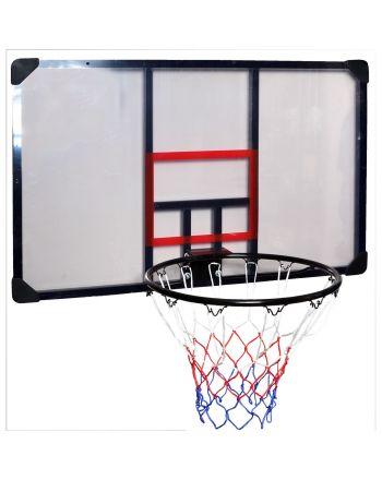 Tablica do koszykówki 112x72cm Enero + obręcz 45cm
