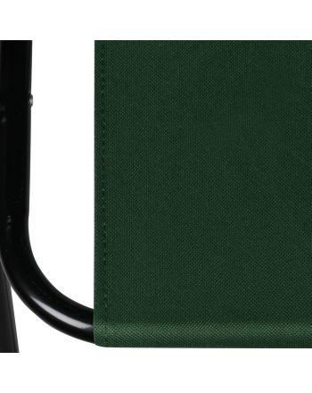 Krzesło turystyczne z podłokietnikami 52x44x75cm składane zielone