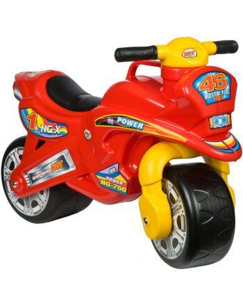 Motorek Biegowy Jeździk Speed Enero 68X29X49/32Cm Żółto Czerwony