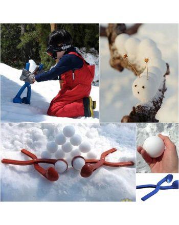 Śnieżkomat ballmaker snowball do robienia kulek śnieżnych pojedynczy różowy