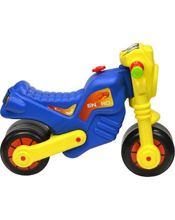 Motorek biegowy jeździk enero cross żółto niebieski