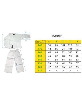 Kimono do karate 140cm Enero