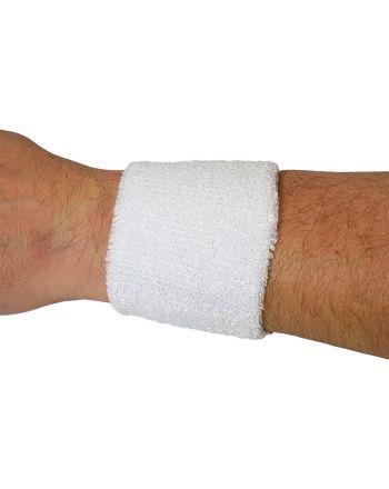 Frotka opaska tenisowa na rękę biała kpl 2szt Athlitech