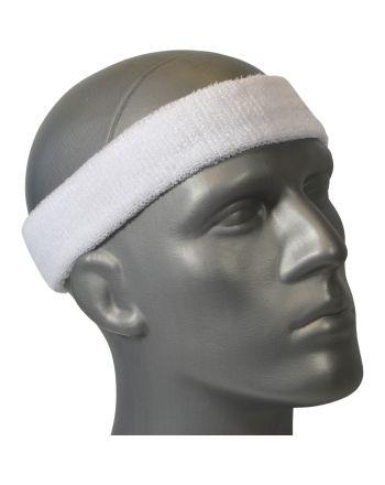 Frotka opaska tenisowa na głowę biała Athlitech