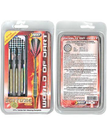 Rzutki lotki metalowe dart FORTUNE 3szt Best Sporting Bezpieczne