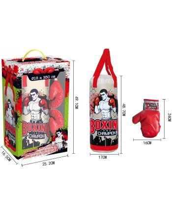 Zestaw bokserski junior Enero worek treningowy 50x18cm  i rękawice